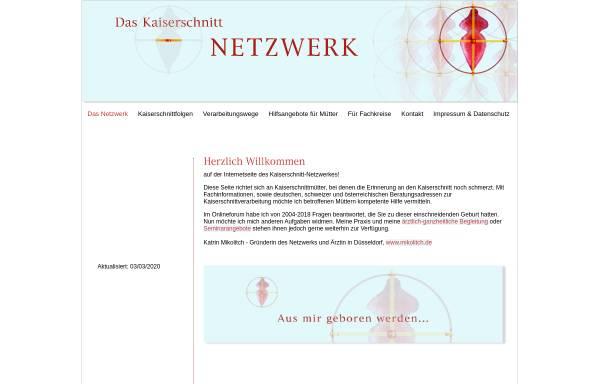 Vorschau von www.kaiserschnitt-netzwerk.de, Kaiserschnitt Netzwerk