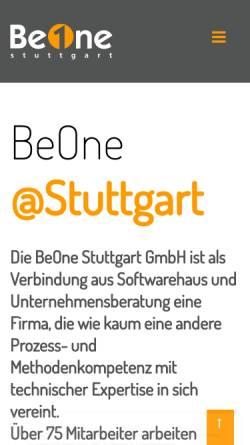 Vorschau der mobilen Webseite www.beone-group.com, BeOne Group GmbH