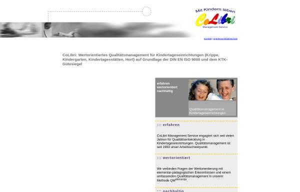 Vorschau von www.colibri-qualitaetsmanagement.de, CoLibri Management Service
