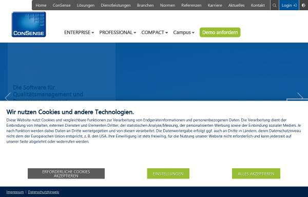 Vorschau von www.consense-gmbh.de, ConSense GmbH