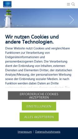 Vorschau der mobilen Webseite www.consense-gmbh.de, ConSense GmbH