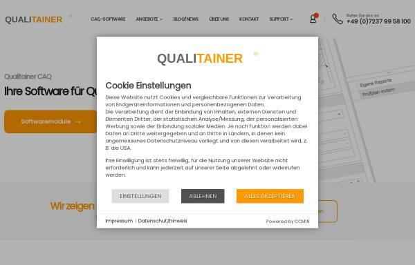 Vorschau von www.qualitainer.de, Qualitainer, Inh. Alexander Monz