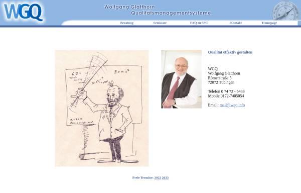 Vorschau von www.wgq.info, Wolfgang Glatthorn, Qualitätsmanagment (WGQ)