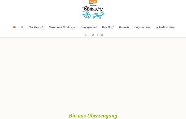 Vorschau von www.oekokorb-brodowin.de, OnlineShop mit Demeter- und Bio- Produkten