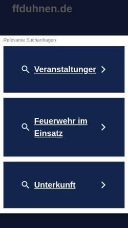 Vorschau der mobilen Webseite www.ffduhnen.de, Freiwillige Feuerwehr Duhnen