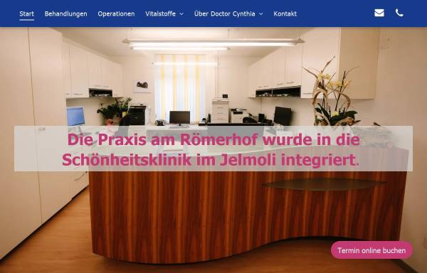 Vorschau von www.doctorcynthia.ch, Wolfensberger, Dr. med. Cynthia A.