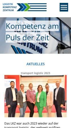 Vorschau der mobilen Webseite www.logistik-kompetenz-zentrum.de, Das Logistik-Kompetenz-Zentrum ist spezialisiert auf Logistik und Verkehr
