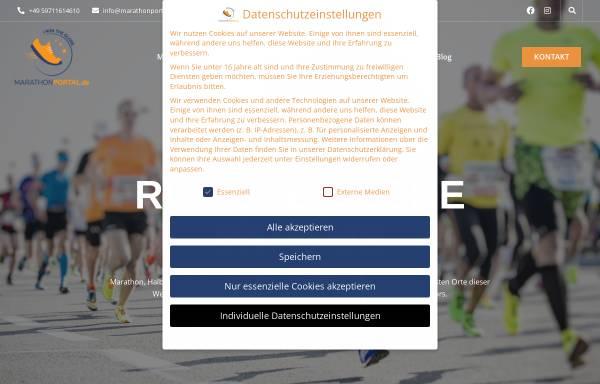 Vorschau von www.marathonportal.de, Deutsches Marathon-Portal