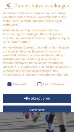 Vorschau der mobilen Webseite www.marathonportal.de, Deutsches Marathon-Portal