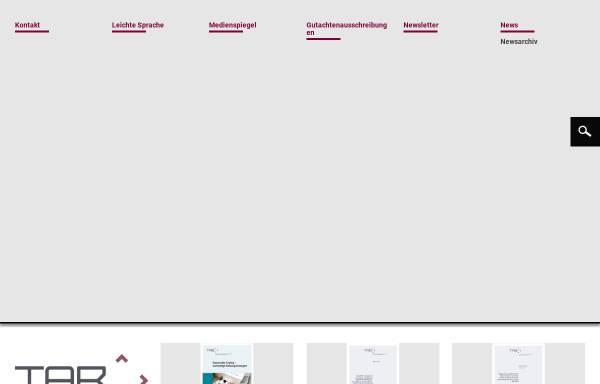 Vorschau von www.tab-beim-bundestag.de, Büro für Technikfolgen-Abschätzung beim Deutschen Bundestag (TAB)