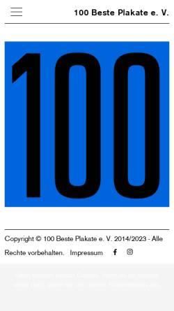 Vorschau der mobilen Webseite 100-beste-plakate.de, 100 beste Plakate des Jahres