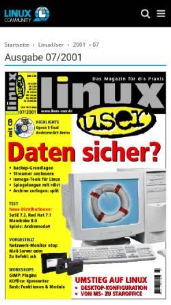 Vorschau der mobilen Webseite www.linux-user.de, Arbeiten mit Plugins
