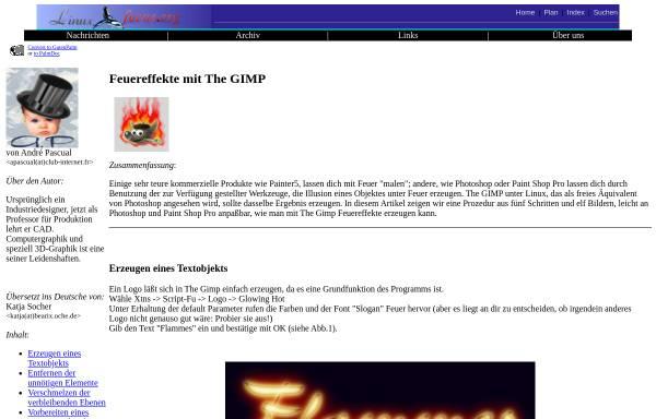 Vorschau von www.linuxfocus.org, Feuereffekte