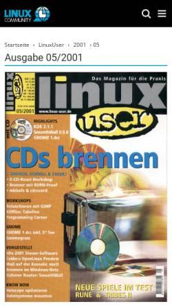 Vorschau der mobilen Webseite www.linux-user.de, Fotonachbearbeitung