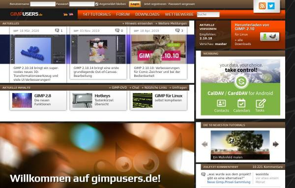 Vorschau von www.gimpusers.de, Gimpusers.de