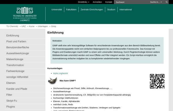 Vorschau von www.tu-chemnitz.de, Kurzeinführung in Gimp