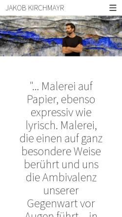 Vorschau der mobilen Webseite www.jakobkirchmayr.com, Jakob Kirchmayr / Bücher und Illustrationen