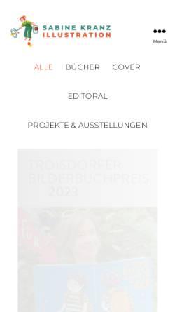 Vorschau der mobilen Webseite www.sabinekranz.de, Kranz, Sabine