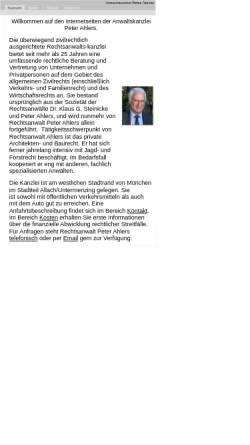 Vorschau der mobilen Webseite www.peterahlers.de, Ahlers, Peter, Barerstr.