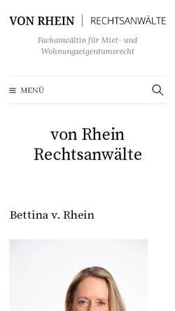 Vorschau der mobilen Webseite www.ra-vonrhein.de, von Rhein Rechtsanwälte