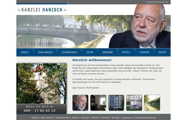 Vorschau von www.kanzlei-hanisch.com, Hanisch, Egon, Nördliche Auffahrtsallee