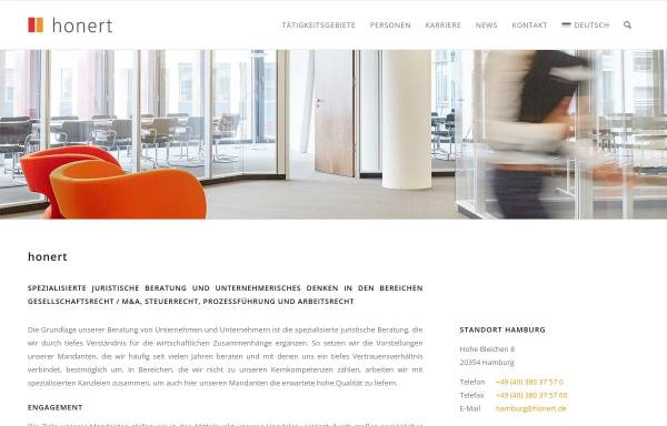 Vorschau von honert.de, Honert + Partner, Theatinerstr.