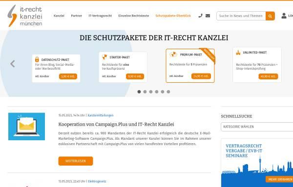 Vorschau von www.it-recht-kanzlei.de, IT-Recht Kanzlei, Alter Messeplatz