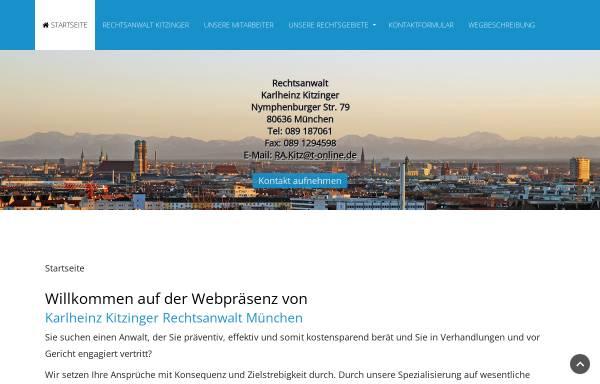 Vorschau von www.rechtsanwalt-kitzinger-muenchen.de, Kitzinger, Karlheinz, Nymphenburger Str.