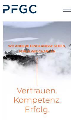 Vorschau der mobilen Webseite arbeitsrecht.pfgc.de, Peters, Fleschutz, Graf von Carmer, Kääb, Widenmayerstr.