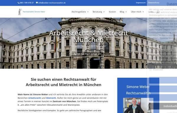 Vorschau von www.weber-rechtsanwaeltin.de, Weber, Simone und Meuschel, Walther, Sendlingertorplatz