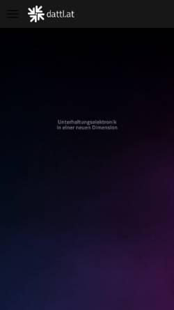 Vorschau der mobilen Webseite www.dattl.at, Dattl Unterhaltungselektronik GmbH & Co KG