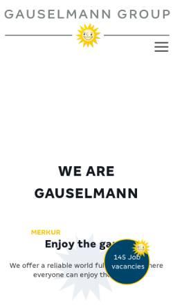 Vorschau der mobilen Webseite www.gauselmann.de, Gauselmann AG