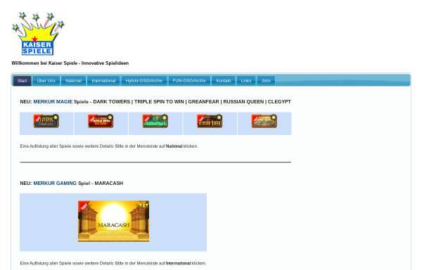 Vorschau von www.kaiserspiele.de, Kaiser Spiele GmbH