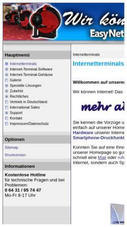 Vorschau der mobilen Webseite www.megaweb-online.de, Mega-Spielgeräte Entwicklungs- und Vertriebsgesellschaft mbh & Co. KG