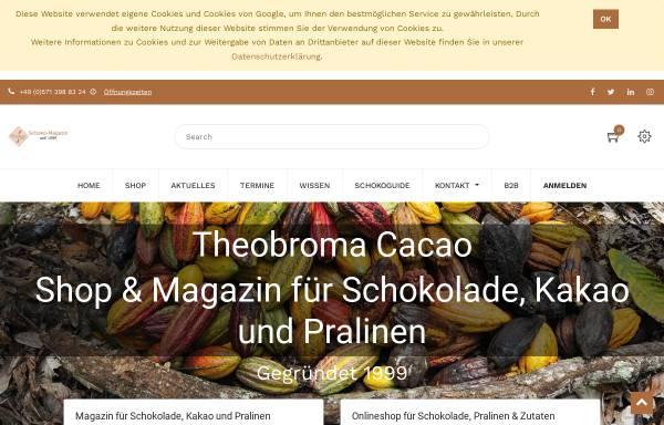 Vorschau von www.theobroma-cacao.de, Schokolade und Kakao