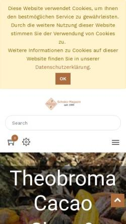 Vorschau der mobilen Webseite www.theobroma-cacao.de, Schokolade und Kakao