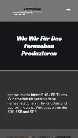 Vorschau der mobilen Webseite approx.ch, Approx. media
