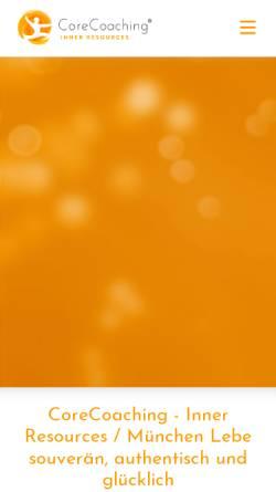 Vorschau der mobilen Webseite www.corecoaching.de, CoreCoaching - Inner Resources