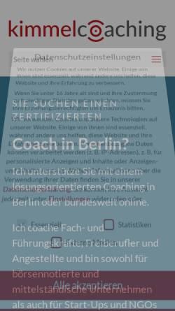 Vorschau der mobilen Webseite www.kimmelcoaching.de, Kimmelcoaching