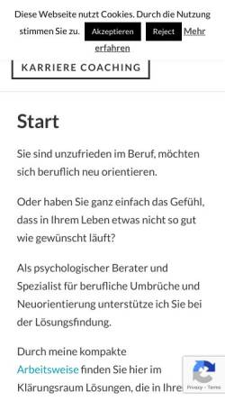 Vorschau der mobilen Webseite www.klaerungsraum.de, Klärungsraum - Stefan R. Manzow