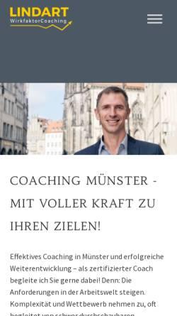 Vorschau der mobilen Webseite wirkfaktorcoaching-muenster.de, Lindart WirkfaktorCoaching