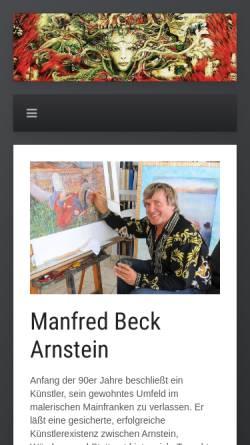 Vorschau der mobilen Webseite www.beck-arnstein-art.com, Beck-Arnstein, Manfred
