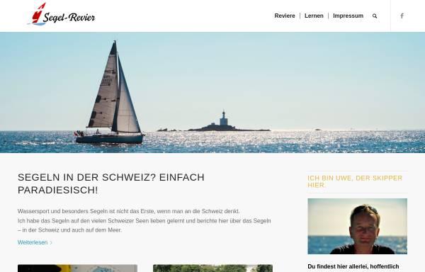 Vorschau von www.segelrevier.ch, Segeln in der Schweiz und Überhaupt