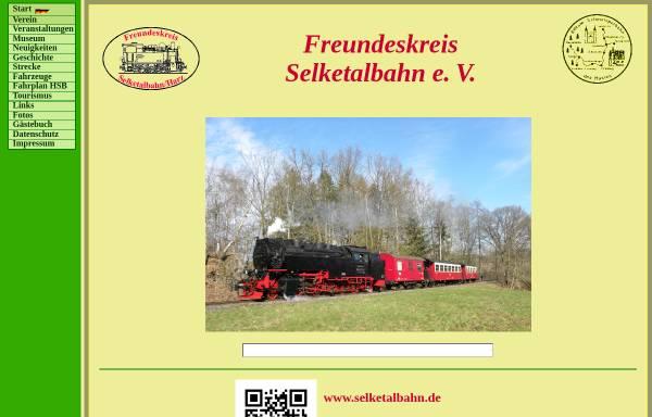 Vorschau von www.selketalbahn.de, Freundeskreis Selketalbahn e.V