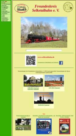 Vorschau der mobilen Webseite www.selketalbahn.de, Freundeskreis Selketalbahn e.V