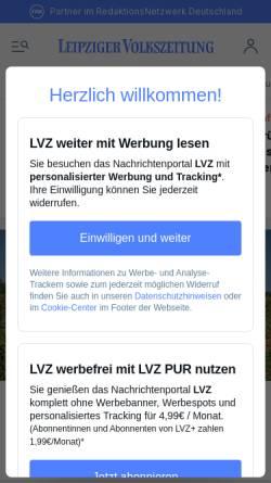 Vorschau der mobilen Webseite www.lvz.de, Leipzig News
