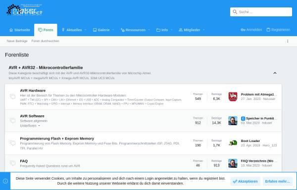 Vorschau von www.avr-praxis.de, AVR-Praxis