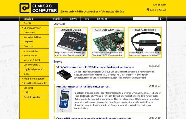 Vorschau von elmicro.com, Elektronikladen Mikrocomputer GmbH