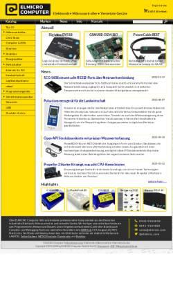 Vorschau der mobilen Webseite elmicro.com, Elektronikladen Mikrocomputer GmbH