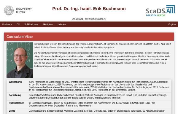 Vorschau von www.erikbuchmann.de, Erik Buchmann's Microcontroller-Seite